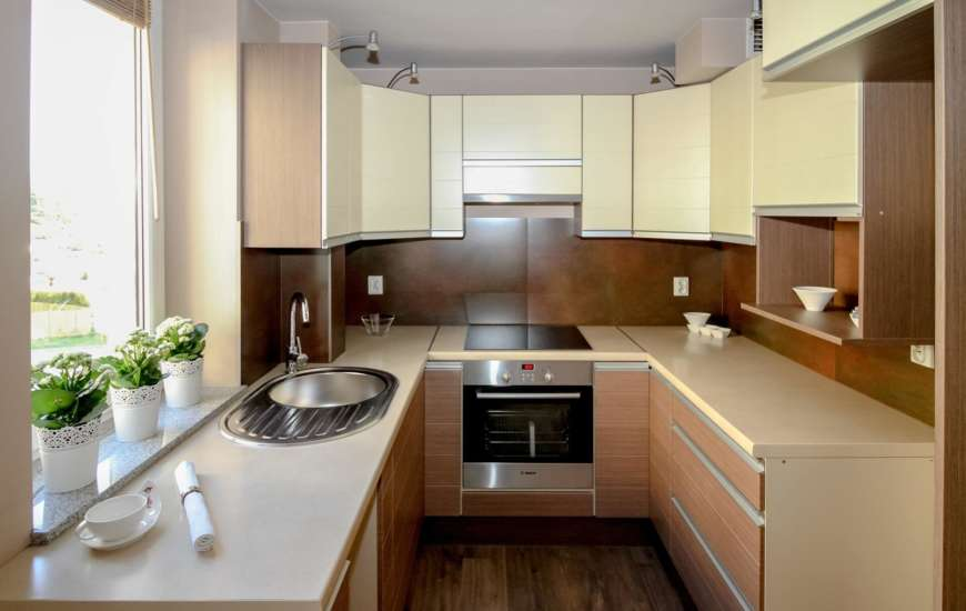 Aranżacja - mała i wąska kuchnia