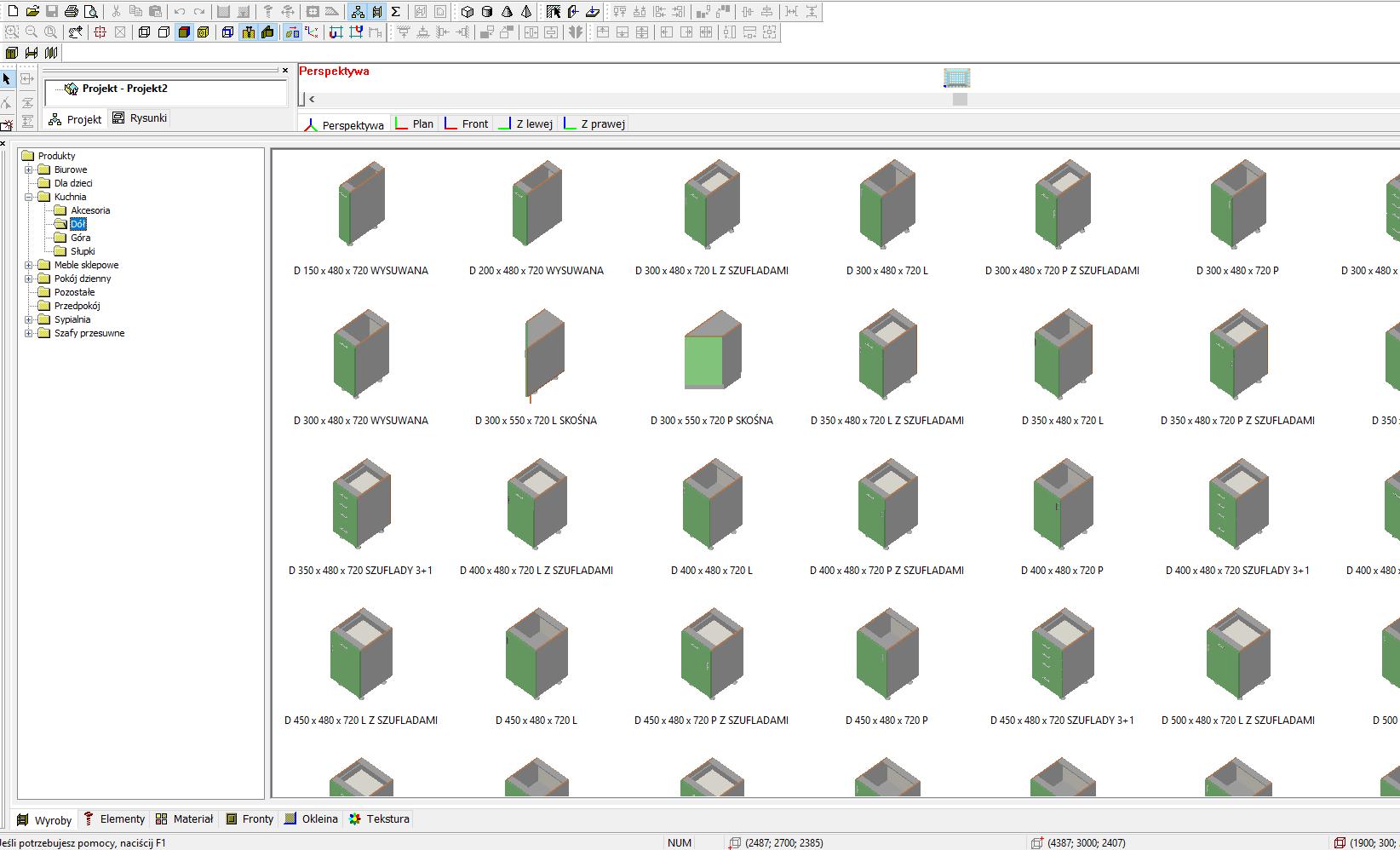 Biblioteki w programie meblarz 3D